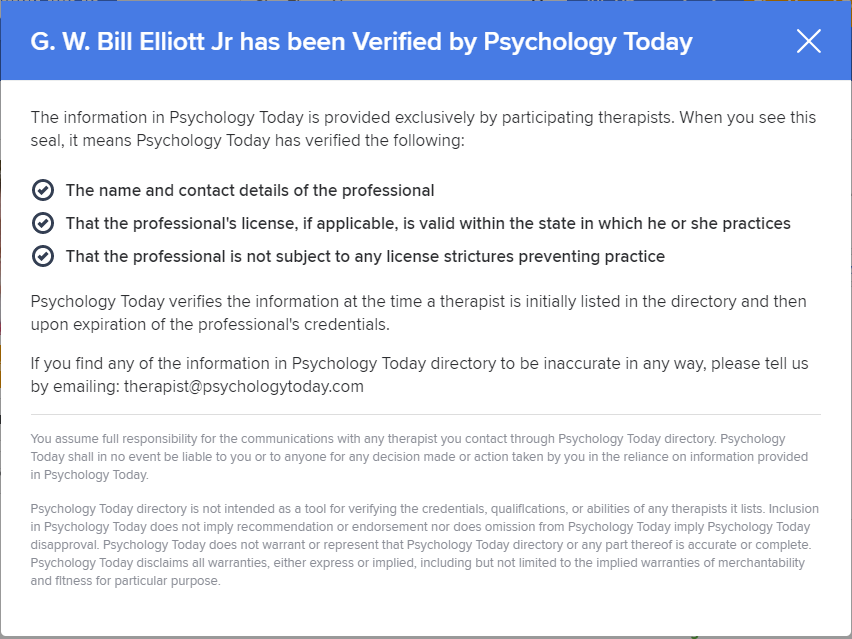 PsychologyTodayValidation